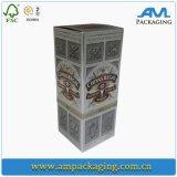 Caixa de presente luxuosa feita sob encomenda refinada da flauta de Champagne do pacote chinês do papel do vinho