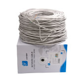 PVC de cobre Electronice do cinza 0.5mm da passagem de Ntework Cat5e UTP 305m Fluck