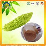 Bittergourd Biter-Melone, die Tee für gesunde Nahrung schneidet
