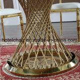 販売のための気性のガラスダイニングテーブルが付いているステンレス鋼