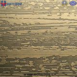 Repérer des panneaux de décor d'acier inoxydable