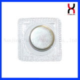 Teclas magnéticas impermeáveis do PVC para a roupa (D18*2mm)