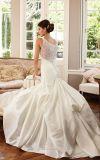 Perler la robe de mariage nuptiale de taffetas de sirène de robe de mariage ND15