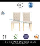 2のセットHzdc077家具の石のオリーブ色のリネン肘のない小椅子