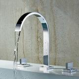 Canalón de la cascada de la maneta 3PCS del doble del grifo de bañera de la estera de baño de Flg