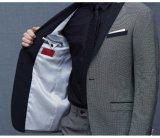 남자를 위한 접어젖힌 옷깃 형식 우연한 한 벌 바느질 측정하기 위하여 만드는