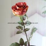 고품질 단 하나 줄기 색깔 여러가지 실크 실제적인 접촉 로즈 인공 꽃 가짜 꽃