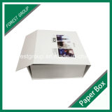 Boîte-cadeau rigide de couleur d'impression pliable de logo (FP0200077)