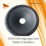 Piezas de porcelana de altavoz profesional de 15 pulgadas de tela Edge-cono de papel-altavoz de cono de piezas