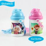Personifizierte Plastik-Kind-Wasser-Flasche mit Wärme-Presse-Drucken