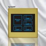 주된 통제 플라스틱 프레임 (SK-T2300L4-M)를 가진 4명의 갱 라이트 터치 스위치