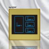 Marco plástico del interruptor de la pared del interruptor del tacto ligero de 4 cuadrillas (SK-T2300L4)