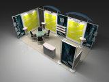 3x6 metros Exposición stand de visualización