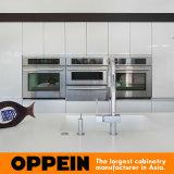 Oppein modernes Melamin-hölzerne Insel-Küche-Möbel (OP16-PN1)