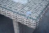 Sofa extérieur de Loungest de meubles de rotin de patio de jardin avec le Tableau en verre (J726)
