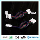 10mm 4 SMD LED 5050 RGBの滑走路端燈のためのケーブルが付いているPin 2のコネクター