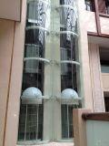 Elevador panorâmico com elevador do passageiro do teto do aço inoxidável do espelho
