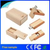 Disco de madera vendedor superior de la memoria del USB del mecanismo impulsor del flash del USB del eslabón giratorio