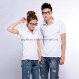 Camiseta llana barata a granel 100% del polo de Camisa del Mens del algodón de la aduana