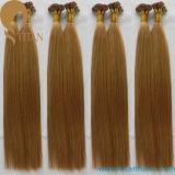 Prolonge indienne de cheveux humains de kératine de Remy de Vierge de Whoelsale d'usine