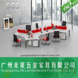 Mesa de escritório proeminente da estação de trabalho do escritório da forma da venda com pé de aço