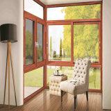 Aluminiummaterial-Balkon farbiges schiebendes Vorhang-Glasfenster mit Edelstahl-Moskito-Netz