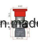 6V-380V de Schakelaar van de Drukknop van de paddestoel met Rode en Groene Kleuren
