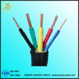 Медный изолированный PVC проводника и кабель плоской проволоки BVVB 3X10mm2 оболочки электрический