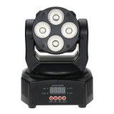 당 디스코 DMX 512 RGBW 4X10W LED 소형 이동하는 맨 위 세척 빛