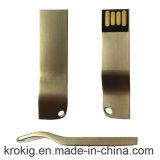 Geschäfts-Metall-USB-grelles Feder-Laufwerk mit DIY Firmenzeichen