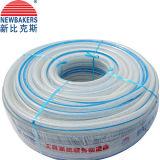 Mangueira reforçada trançada PVC da água da fibra (KSA-16198SSG claramente) 50 jardas