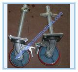 Roue réglable d'échafaudage de frein de coffre-fort
