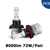 LED Car Headlight Automobile Light Headlight S2 H13 COB 8000lm 72W Auto Headlight