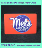 Pub-Karte gebildet vom Plastik mit magnetischem Streifen (ISO 7811)
