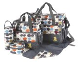 Venda por atacado Designer Mummy Travel Cotton / Duffle Baby Changing Nappy Diaper Bags