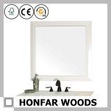 بيضاء خشبيّة إطار مرآة إطار غرفة حمّام زخرفة