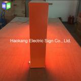 자유로운 입상을%s LED 두 배 옆 알루미늄 직물 가벼운 상자는 옥외를 안으로 서명한다