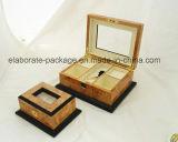 Rectángulo estándar de madera de Jewellry de la garantía de moda de Quanlity del arte
