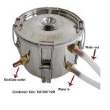Neuer 10L/3 Gallone Spiritus-Wein-Wasser-Destillierapparat-Kupfermoonshine-noch rostfreier Dampfkessel