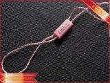 Étiquette en plastique de joint d'étiquette de coup de chaîne de caractères de vêtement avec le logo