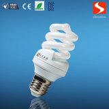 Volle gewundene Tri-Color 9W CFL Grundregel-Energieeinsparung-Lampen