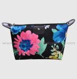 卸し売り防水は女性の黒く装飾的な袋のための花模様の構成のブラシ袋を変える