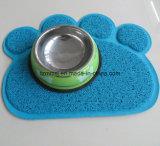 Циновка тарелки шара еды любимчика циновки сора кота PVC циновки любимчика печати лапки подавая большой размер