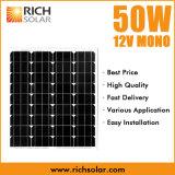 50W 12V monokristalline PV Solarbaugruppe