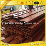 OEM van de Levering van de Fabrikanten van de Uitdrijving van het Aluminium van China het Holle Profiel van het Aluminium met Houten Kleuren