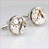 Botão de punho de venda quentes 1269 do movimento das ligações de punho do relógio dos punhos da engrenagem de Steampunk dos homens