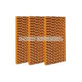 Almofada refrigerar evaporativo do favo de mel do equipamento 7090 das aves domésticas da estufa