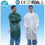 Устранимое пальто лаборатории PP SMS Nonwoven для Laboratotry и стационара