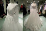 Laço na moda do vintage/vestidos casamento de Tulle