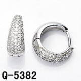 De Juwelen van het Messing van Hotsale van de fabriek Twee Oorringen van CZ van de Toon
